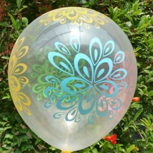 10 Pieces Of Flowers Clear Latex Balloons 🌸